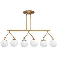 Craftmade 50776-PAB Orion 6 Light 45 inch Patina Aged Brass Island Light Ceiling Light