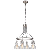 Craftmade 51224-PLN Gallery State House 4 Light 24 inch Polished Nickel Chandelier Ceiling Light