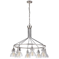 Craftmade 51228-PLN Gallery State House 8 Light 37 inch Polished Nickel Chandelier Ceiling Light