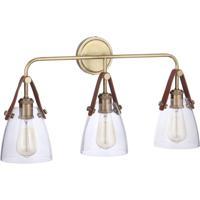 Craftmade 51303-VB Gallery Hagen 3 Light 26 inch Vintage Brass Vanity Light Wall Light