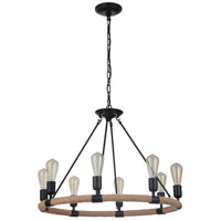Craftmade 51728-FB Dillon 8 Light 30 inch Flat Black Chandelier Ceiling Light