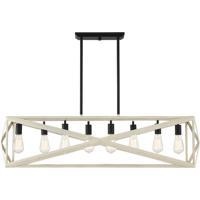 Craftmade 51878-CWESP Hansel 8 Light 46 inch Cottage White/Espresso Island Light Ceiling Light