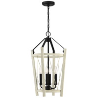 Craftmade 51934-CWESP Suffolk 4 Light 14 inch Cottage White and Espresso Foyer Light Ceiling Light