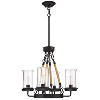Craftmade 52024-ESP Homestead 4 Light 24 inch Espresso Outdoor Chandelier