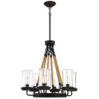 Craftmade 52026-ESP Homestead 6 Light 27 inch Espresso Outdoor Chandelier