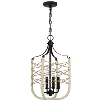 Craftmade 52334-CWESP Cavendish 4 Light 14 inch Cottage White/Espresso Foyer Light Ceiling Light