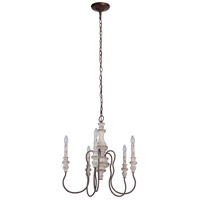 Craftmade 52825-CWFM Highgate 5 Light 23 inch Cottage White and Forged Metal Chandelier Ceiling Light