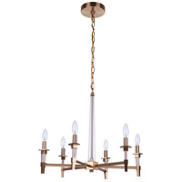 Satin Brass Crystal Chandeliers