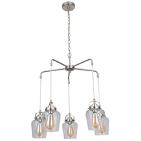 Craftmade 53525-BNK Neighborhood Trystan 5 Light 28 inch Brushed Polished Nickel Chandelier Ceiling Light