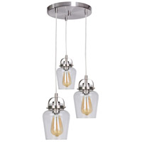 Craftmade 53592-BNK Neighborhood Trystan 3 Light 14 inch Brushed Polished Nickel Pendant Ceiling Light