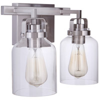 Craftmade 53602-BNK Foxwood 2 Light 13 inch Brushed Polished Nickel Vanity Light Wall Light