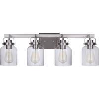 Craftmade 53604-BNK Foxwood 4 Light 29 inch Brushed Polished Nickel Vanity Light Wall Light