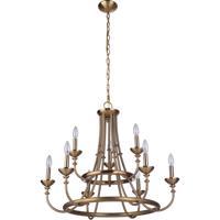 Craftmade 53729-SB Marlowe 9 Light 30 inch Satin Brass Chandelier Ceiling Light