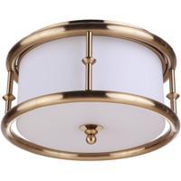 Craftmade 53783-SB Marlowe 3 Light 14 inch Satin Brass Flushmount Ceiling Light