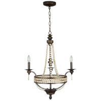 Craftmade 5524PR3 Cortana 3 Light 24 inch Peruvian Bronze Chandelier Ceiling Light