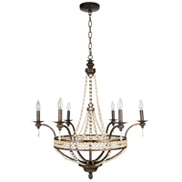Craftmade 5532PR6 Cortana 6 Light 32 inch Peruvian Bronze Chandelier Ceiling Light
