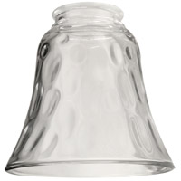 Bell Hammered and Clear 5 inch Glass in Clear Glass