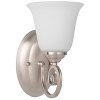 Craftmade 7105BN1-WG Cecilia 1 Light 6 inch Brushed Satin Nickel Wall Sconce Wall Light in Brushed Nickel, White Frosted Glass, Jeremiah