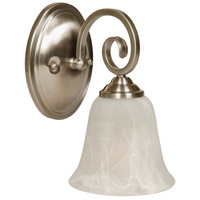 Craftmade 7105BNK1 Cecilia 1 Light 6 inch Brushed Satin Nickel Wall Sconce Wall Light in Brushed Polished Nickel, Alabaster Glass