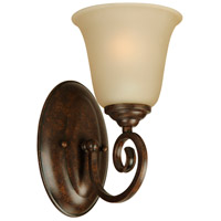 Craftmade 7105PR1 Cecilia 1 Light 6 inch Peruvian Bronze Wall Sconce Wall Light in Amber Frost Glass