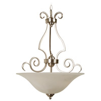 Craftmade 7118BNK3 Cecilia 3 Light 18 inch Brushed Satin Nickel Inverted Pendant Ceiling Light in Brushed Polished Nickel, Alabaster Glass