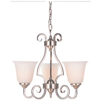 Craftmade 7120BNK3-WG Cecilia 3 Light 20 inch Brushed Satin Nickel Chandelier Ceiling Light in Brushed Polished Nickel, White Frosted Glass, Jeremiah alternative photo thumbnail