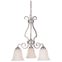 Craftmade 7121BNK3-WG Cecilia 3 Light 20 inch Brushed Satin Nickel Down Chandelier Ceiling Light in Brushed Polished Nickel, White Frosted Glass, Jeremiah alternative photo thumbnail
