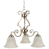 Craftmade 7121BNK3 Cecilia 3 Light 20 inch Brushed Satin Nickel Down Chandelier Ceiling Light in Brushed Polished Nickel, Alabaster Glass