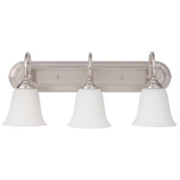 Craftmade 7123BN3-WG Cecilia 3 Light 24 inch Brushed Satin Nickel Vanity Light Wall Light in Brushed Nickel, White Frosted Glass, Jeremiah