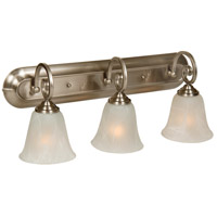 Jeremiah by Craftmade Cecilia 3 Light Vanity Light in Brushed Nickel 7123BN3