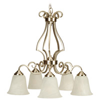 Craftmade 7125BNK5 Cecilia 5 Light 24 inch Brushed Satin Nickel Down Chandelier Ceiling Light in Brushed Nickel, Alabaster Glass