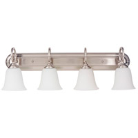 Craftmade 7132BN4-WG Cecilia 4 Light 32 inch Brushed Satin Nickel Vanity Light Wall Light in Brushed Nickel, White Frosted Glass, Jeremiah