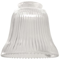 Craftmade 755C Signature Clear Ribbed Fan Glass, Bell