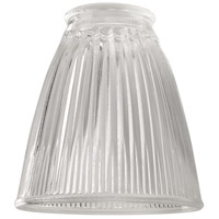 Craftmade 757C Signature Clear Ribbed Cone 4 inch Glass
