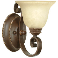 Craftmade 8107AG1 Riata 1 Light 8 inch Aged Bronze Textured Wall Sconce Wall Light in Antique Scavo Glass