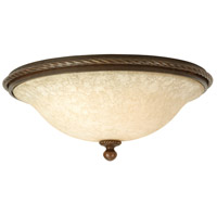Riata 3 Light 16 inch Aged Bronze Textured Flush Mount Ceiling Light in Antique Scavo Glass