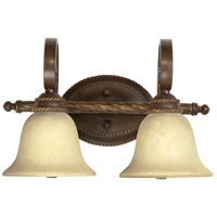 Riata 2 Light 19 inch Aged Bronze Vanity Light Wall Light in Antique Scavo Glass