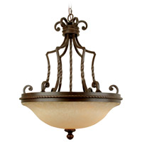 Jeremiah by Craftmade Riata 3 Light Pendant in Aged Bronze 8123AG3