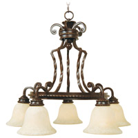Jeremiah by Craftmade Riata 5 Light Chandelier in Aged Bronze 8129AG5