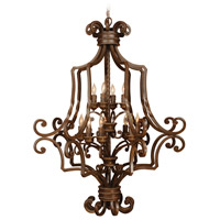 Craftmade 8133AG12 Riata 12 Light 33 inch Aged Bronze Textured Foyer Light Ceiling Light, Cage alternative photo thumbnail