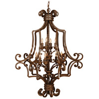 Jeremiah by Craftmade Riata 12 Light Cage Chandelier in Aged Bronze 8139AG12