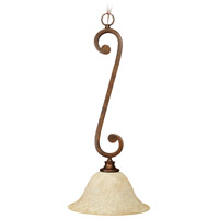 Jeremiah by Craftmade Toscana 1 Light Chandelier in Peruvian Bronze 9112PR1