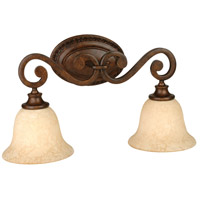 Jeremiah by Craftmade Toscana 2 Light Vanity Light in Peruvian Bronze 9121PR2