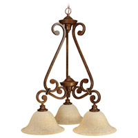 Jeremiah by Craftmade Toscana 3 Light Chandelier in Peruvian Bronze 9124PR3