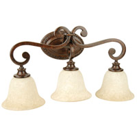Jeremiah by Craftmade Toscana 3 Light Vanity Light in Peruvian Bronze 9125PR3