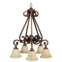 Jeremiah by Craftmade Toscana Down-Light 5 Light Chandelier in Peruvian Bronze 9127PR5