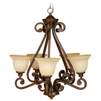 Jeremiah by Craftmade Toscana Up-Light 5 Light Chandelier in Peruvian Bronze 9128PR5