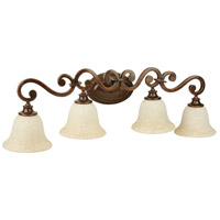 Jeremiah by Craftmade Toscana 4 Light Vanity Light in Peruvian Bronze 9135PR4