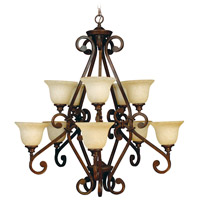 Craftmade 9138PR10 Toscana 10 Light 38 inch Peruvian Bronze Chandelier Ceiling Light