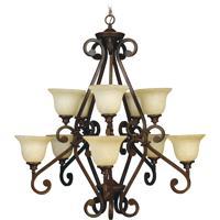 Craftmade 9138PR10 Toscana 10 Light 38 inch Peruvian Bronze Chandelier Ceiling Light